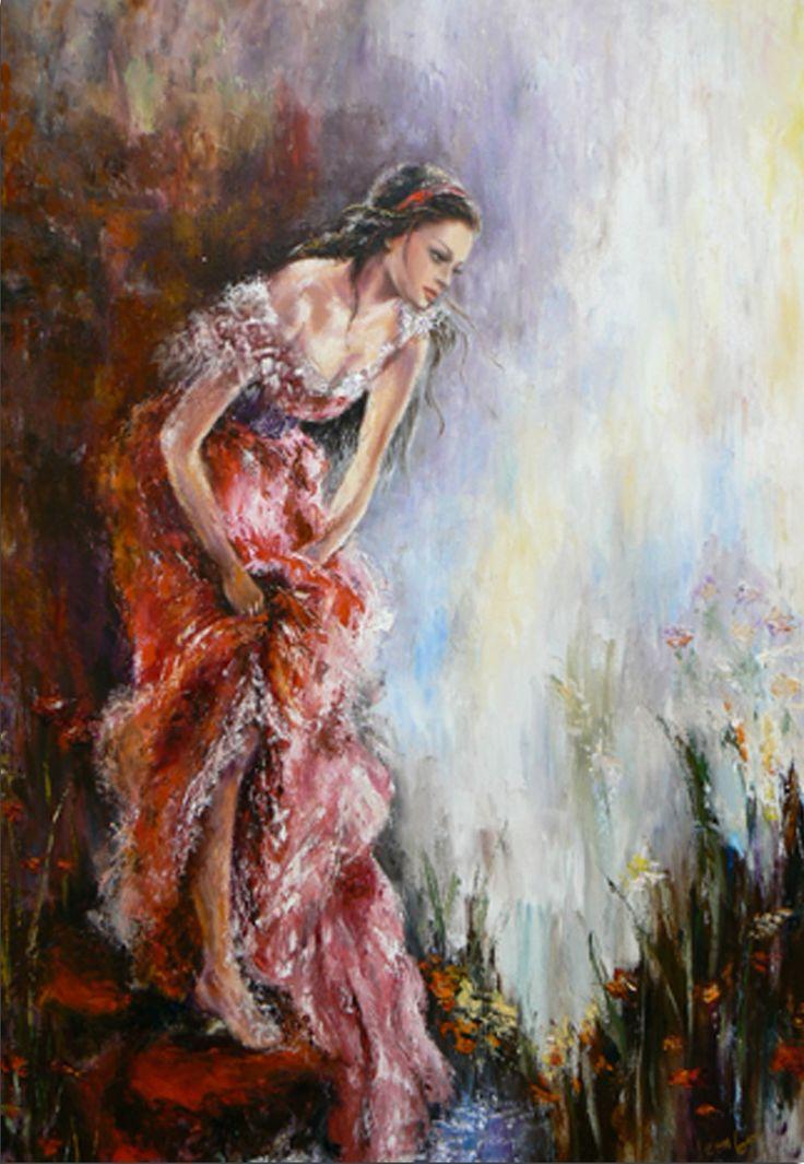 Liana Gor - Odalisque 48x36 - Oil on Canvas