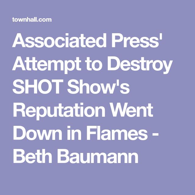 Associated Press' Attempt to Destroy SHOT Show's Reputation Went Down in Flames - Beth Baumann