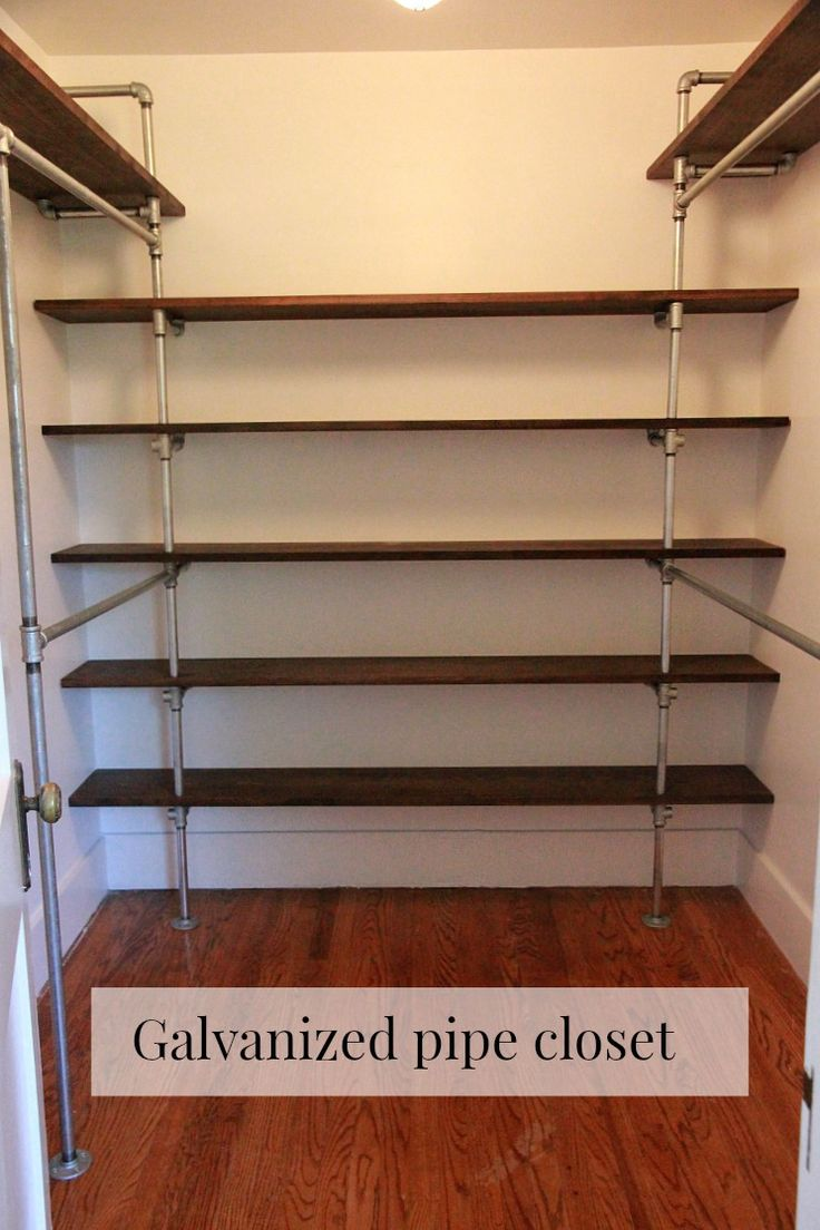 DIY galvanized pipe closet