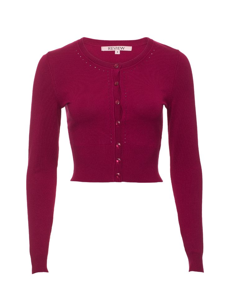 Maggie Long Sleeve Cardi | Claret | New Arrival