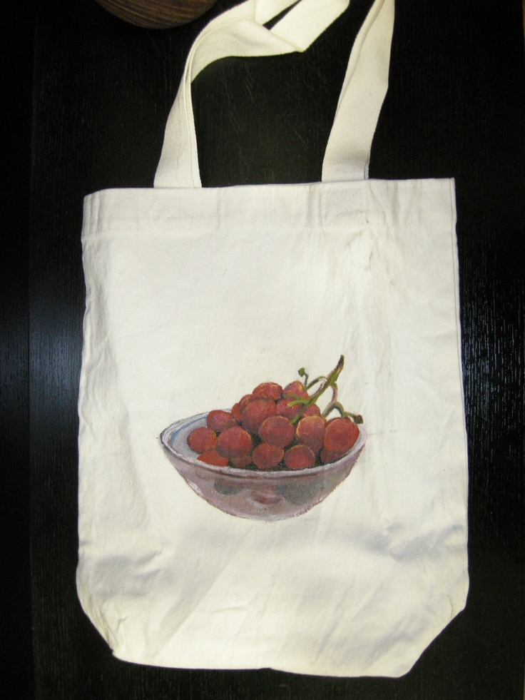 Hand painted thick white canvas bag for Rs 2050. Good for books, as a beach bag and for gifting. Available in India only. Contact viabagstore@yahoo.com