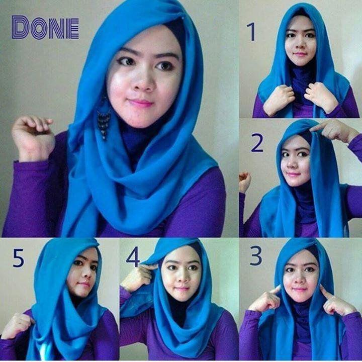 Tutorial Hijab Segi Empat Untuk Lebaran Hijab Tutorial Pashmina Hijab Tutorial Tutorial Hijab Modern