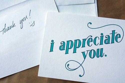 appreciation always improve relationship
