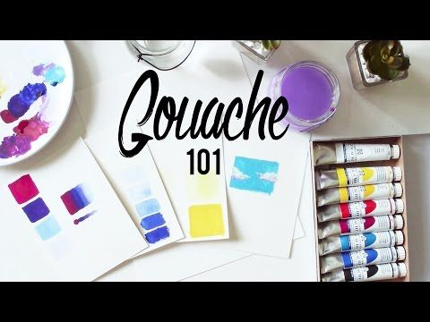 Gouache 101 · Tips and Techniques + Paper, Brushes and Cheap vs. Expensive - YouTube