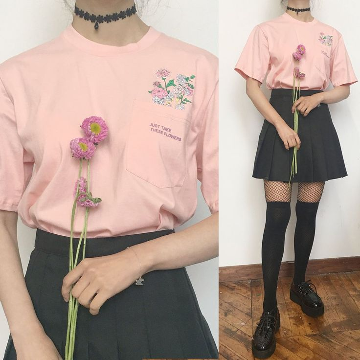 """2 YEAR ANNIVERSARY SALE -""""Just take these flowers"""" pocket unisex Tee"""