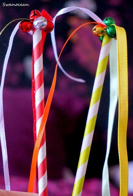 Swanocean: DIY Christmas jingle wand-Χριστουγεννιάτικο κουδουνάτο ραβδί