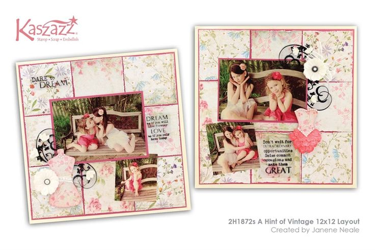 2H1872s A Hint of Vintage 12x12 Layout
