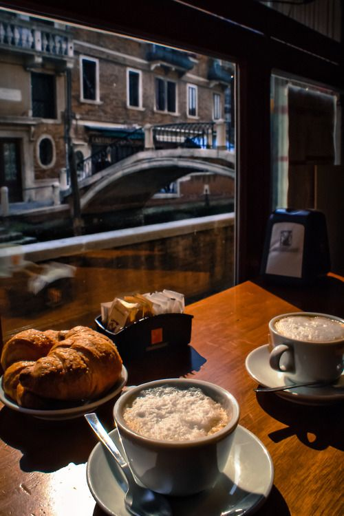 In #Venice, or anywhere else in #Italy,  a cappuccino and a brioche are a tasty start to the day.