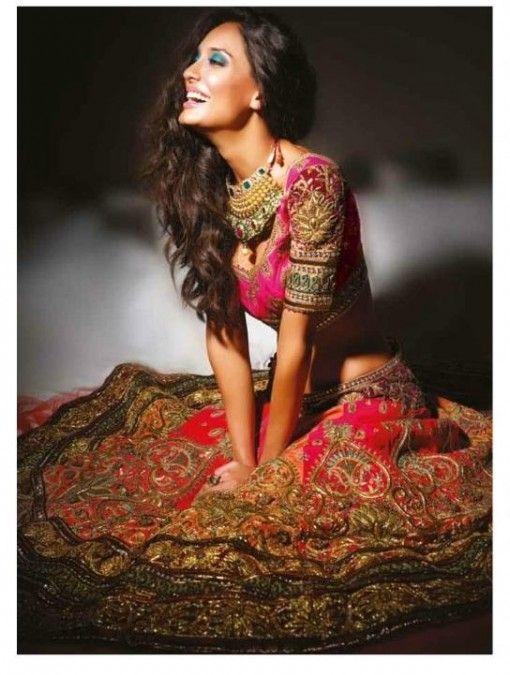 Lisa Haydon in Indian Designer Bridal Wear for Noblesse Magazine - Indian Wedding Site Home - Indian Wedding Site - Indian Wedding Vendors, ...