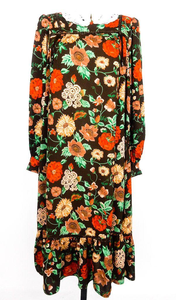 Vintage Floral Swing Dress