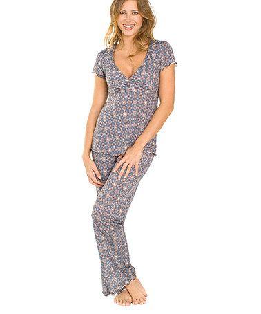 Another great find on #zulily! Majamas Truffle Nursing Pajama Set #zulilyfinds