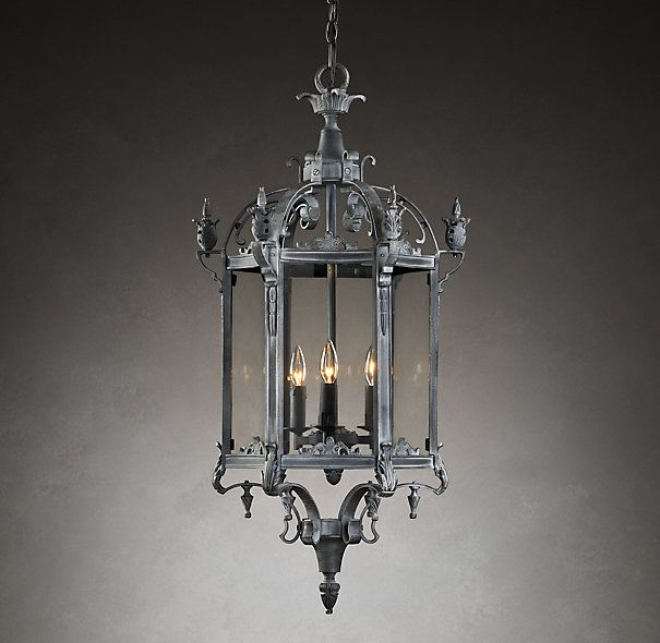 Restoration Hardware Lights For Less: 19th C. Salerno Streetlight Pendant Weathered Zinc, From