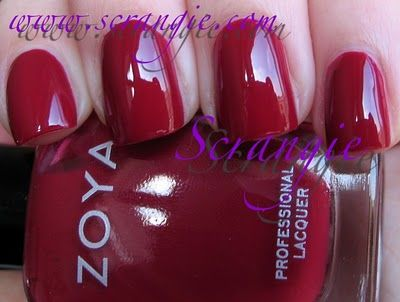 Zoya Racquel (Dark Red)