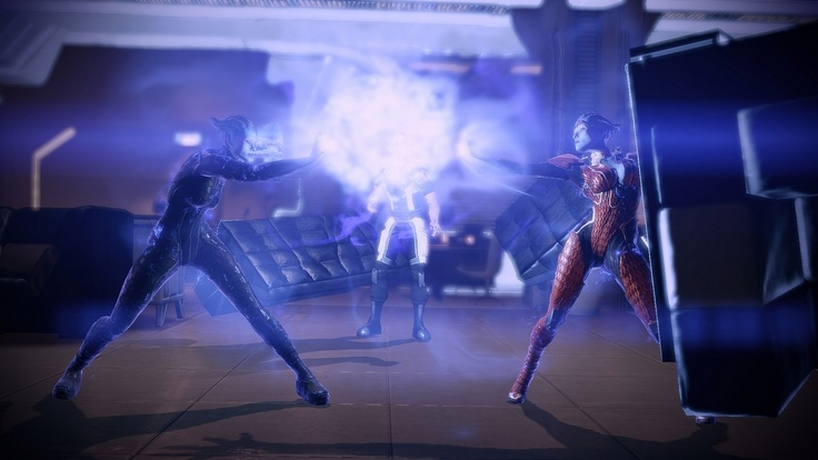 This scene is so epic my XBox 360 glitches and I get no sound almost. Every. Time. ... Even. After. Reloads... -> Morinth vs Samara - Mass Effect <-