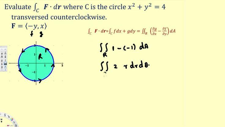 Green's Theorem #1 - Vector Calculus