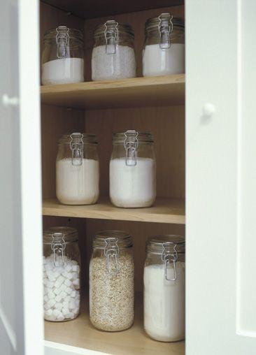 glass storage jars for washing powders etc