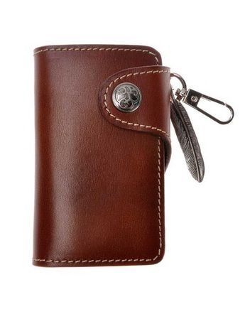 Be different! This key wallet is made out of rich, luxurious, dark brown leather. This key wallet is great for people who are looking for a little more class in a key retention device. It can also be used as a wallet and key-chain replacement. #KeyWallet #Keys #Wallet