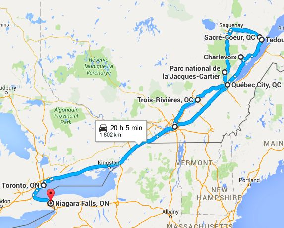 Road Trip Canada Quebec Ontario Montréal Quebec Charlevoix Tadoussac Saguenay Toronto Niagara Estrie Cantons de l Est