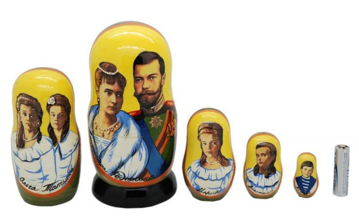 Nikolai 2 Russian Royal Family Nesting Dolls 5pc matryoshka doll nesting free shipping