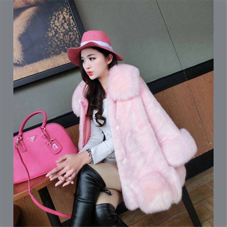 Cheap faux fur coat, Buy Quality black faux fur coat directly from China fake fur coats Suppliers: 2016 New Winter Warm Whitepink,grey,black Faux Fur Coats  Luxury fake Fur Coats For Women Free shipping