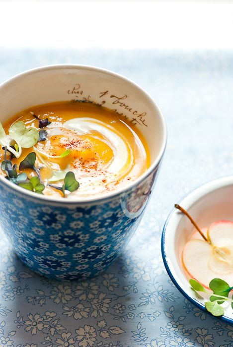 Seeking Warmth & Comfort. Butternut squash, parsnip and apple soup,