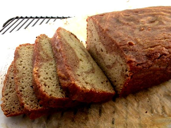 Cinnamon Swirl Bread - grain-free and gluten-free, sweetened with honey and made with coconut flour.