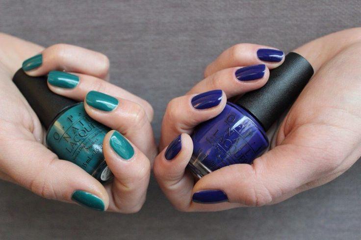 OPI DarkGreen & Blue