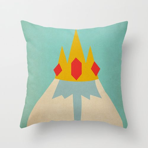 Minimalist Adventure Time Ice King Throw Pillow