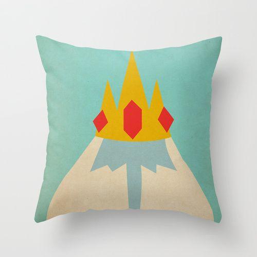 Minimalist Adventure Time Ice King Throw Pillow