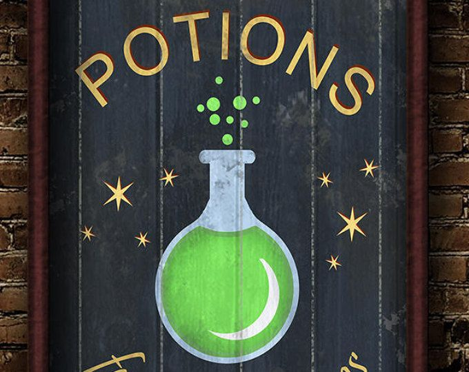 Harry, Potter, Harry Potter, Diagon Alley, Diagon, Alley, Potions, for all Afflictions, Shop, London, diagon Alley Potion Shop poster print