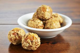 Peanut Butter and Apricot Snack Bites
