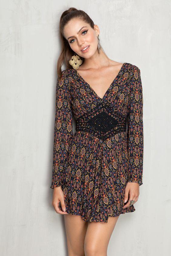 Boho style - lindo vestido!