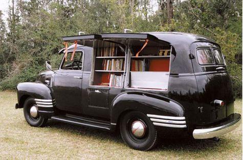 1949 Chevy Bookmobile Survivor - Anderson South Caroline Library USA.  Was in continuous service until 1991.