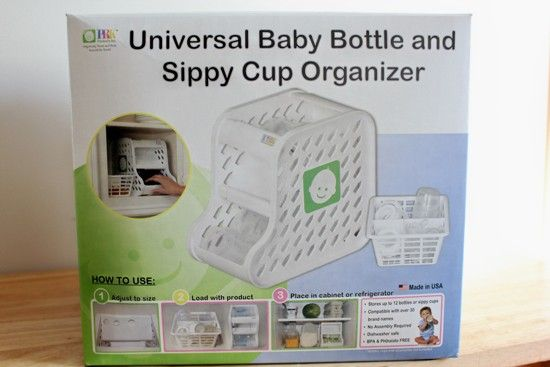 baby bottle and sippy cup organizer