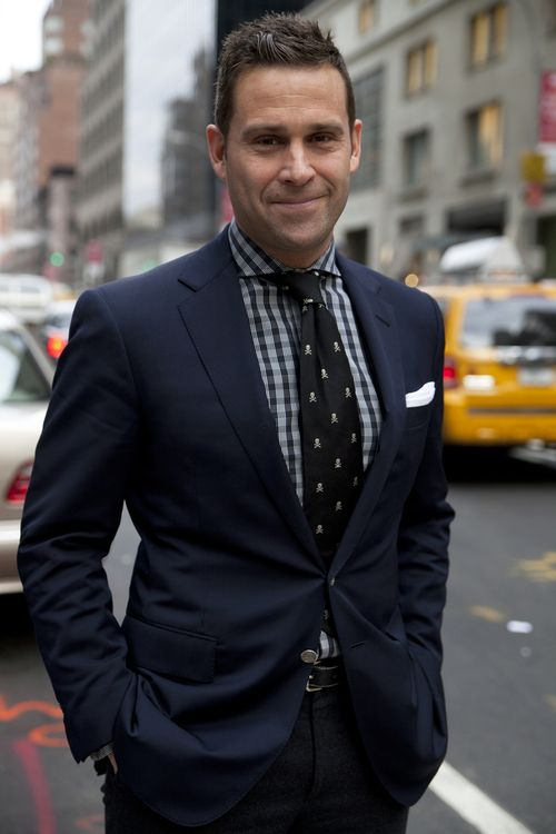 Lael Wheeler, Account Executive at Ralph Lauren, representing his workplace in all Ralph Luaren apparel.