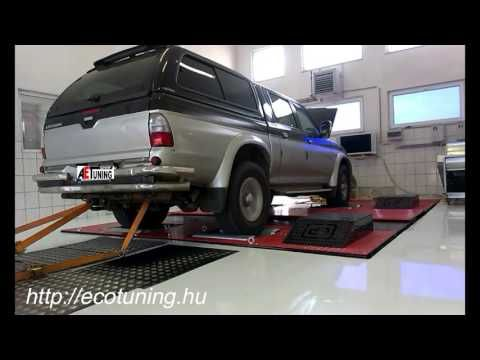 Mitsubishi L200 2.5TD 115LE AET CHIPtuning Referencia Videó Teljesítmény...