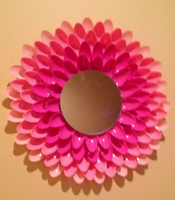 Spoon mirror DIY | My Creations | Pinterest | Girls, For ...