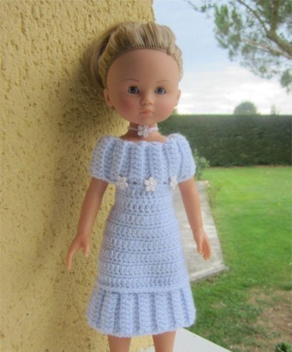 Doll Pour Chéries Les Robe Élégante Crochet Au Patron Poupée wP187qx