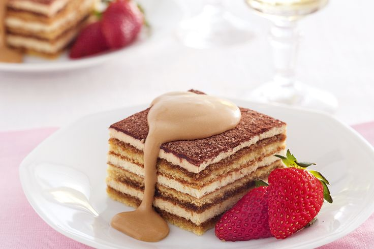 Tiramisu means pick-me-up in Italian, and this layered cream and chocolate dessert will do just that.  Add a personal touch to bought tiramisu with smooth homemade coffee cream.