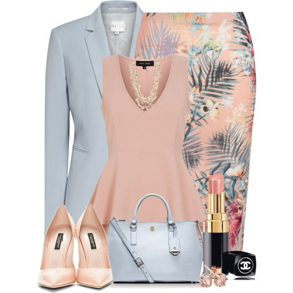A fashion look from June 2014 featuring Reiss blazers, Dolce&Gabbana pumps and Tory Burch tote bags. Browse and shop related looks.