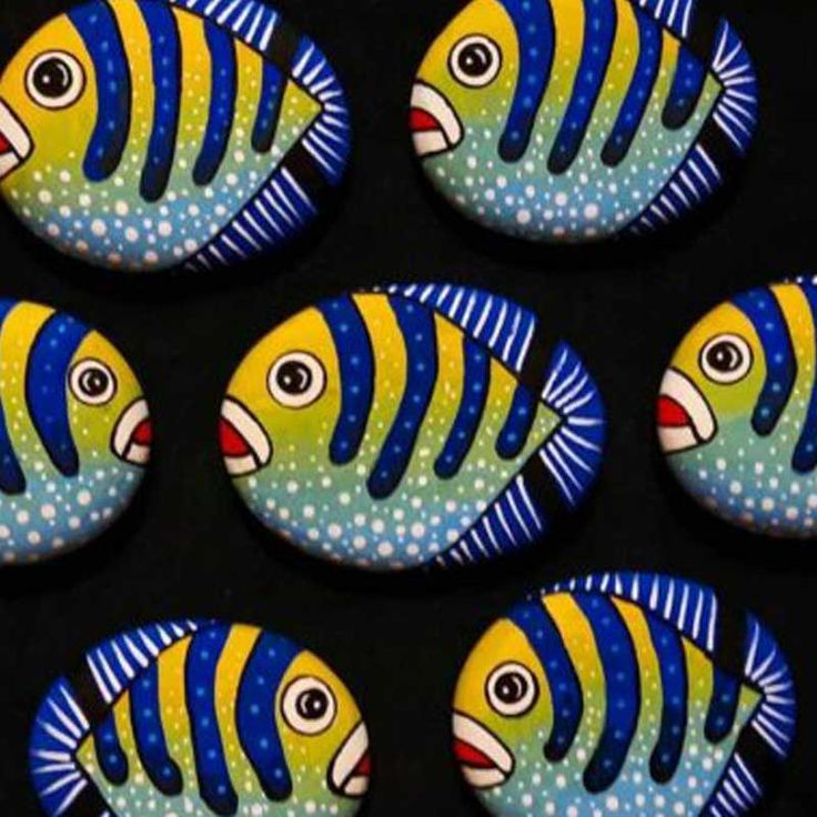 Stone Coloring Fish 10 00 Tl Particin Birthday Ornament