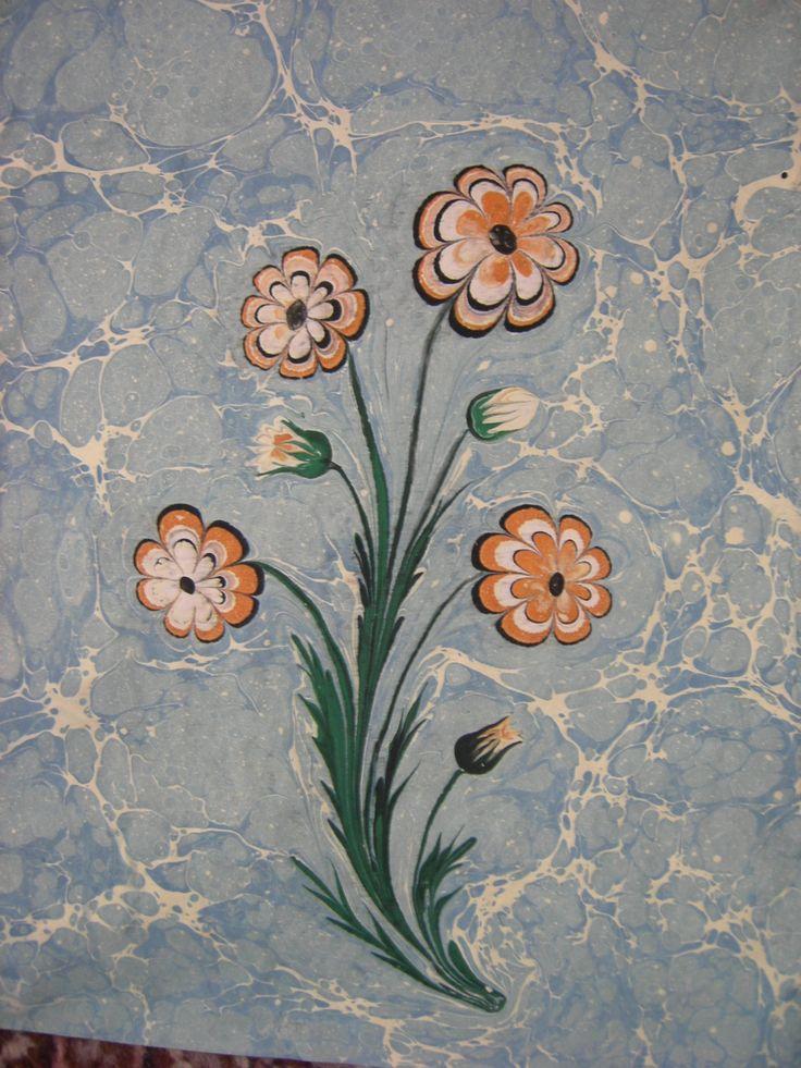 Flowers marbling By Songül Sönmez