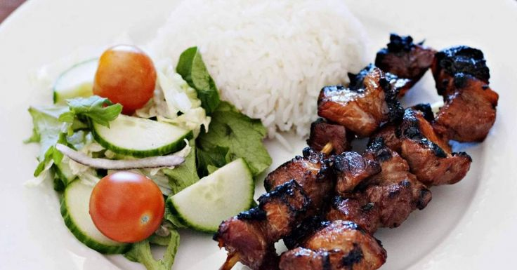 Barbecue Pork Belly Skewers