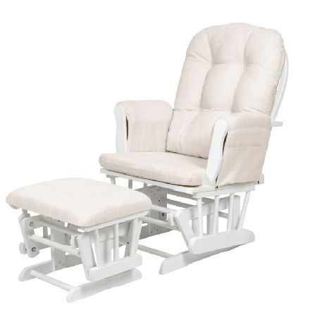 Kub Haywood Glider Nursing Chair and Stool-White The Kub Haywood Glider and Stool is the perfect addition to any nursery, offering a soft, quiet, gliding motion with soft padded upholstery and a stool that comes with matching fabric foot pad. Featur http://www.MightGet.com/march-2017-1/kub-haywood-glider-nursing-chair-and-stool-white.asp