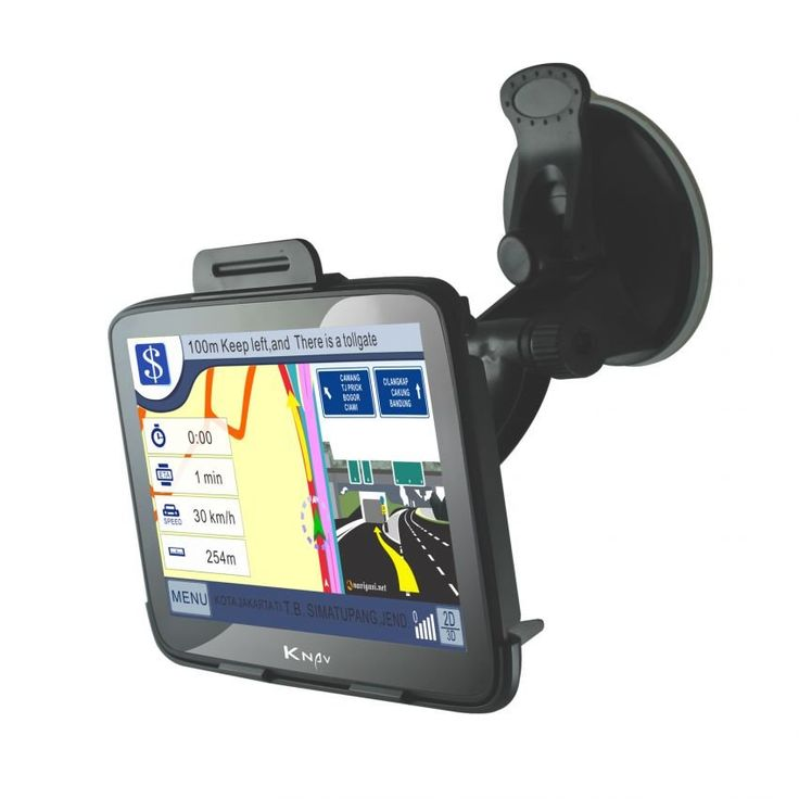 """GPS navigation system by Knav. With 7"""" touch screen. Comes in black color. http://zocko.it/LDCvd"""