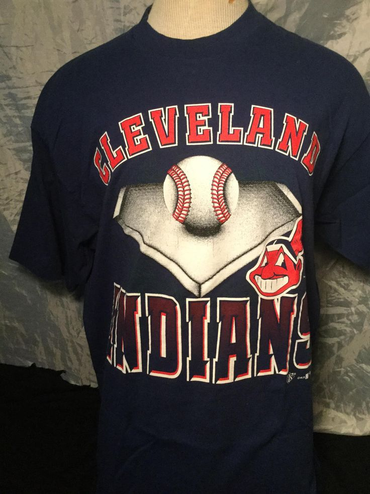 Vintage 1995 OverPrint T-Shirt Cleveland Indians Very Good by 413productions on Etsy
