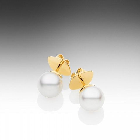 Paspaley: Round Pearl Studs