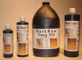 Dark Raw Tung Oil for finishing wood (real, pure tung oil)
