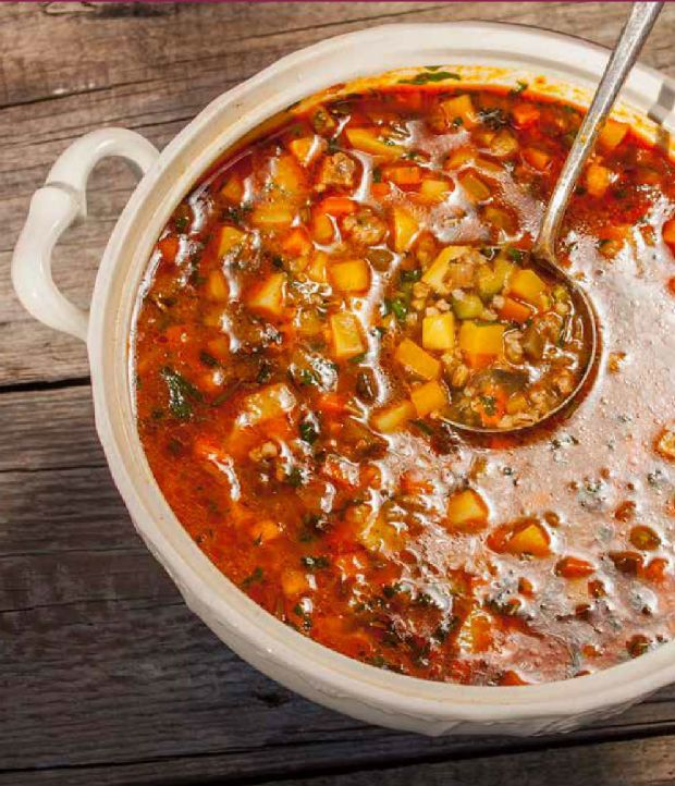 Provensálská polévka (děláme ji ale podle receptu z Apetitu: http://www.apetitonline.cz/recepty/8292-provensalska-polevka.html)