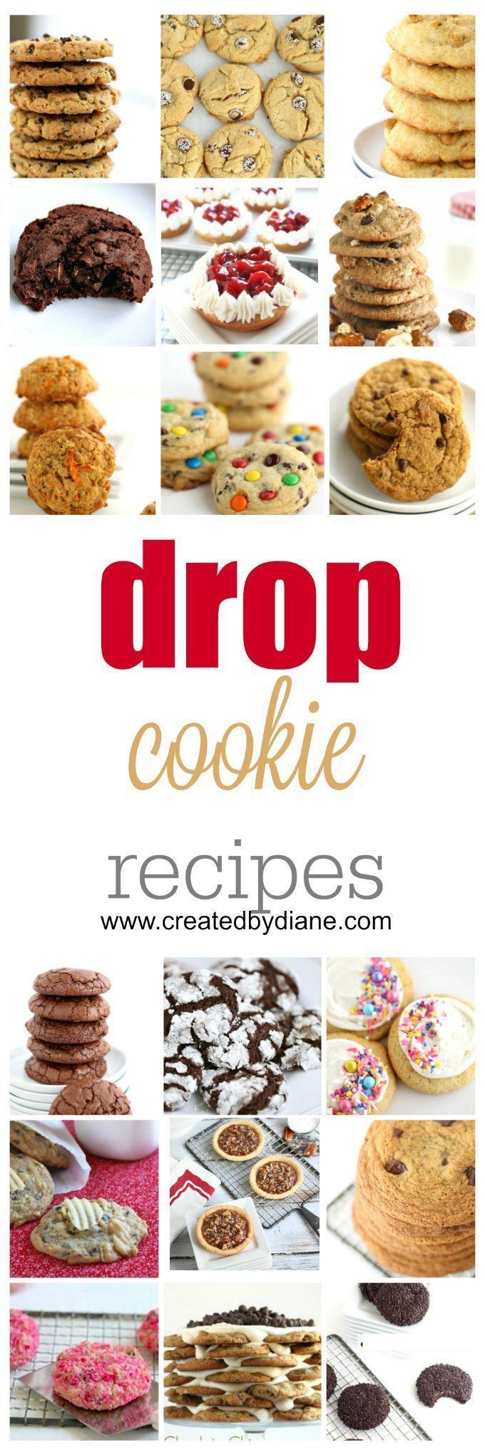 drop cookie recipes that are easy to make www.createdbydiane.com